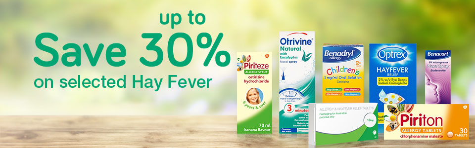 Save up to 30% on Hay Fever