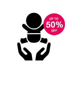Save up to 50% on Baby Care