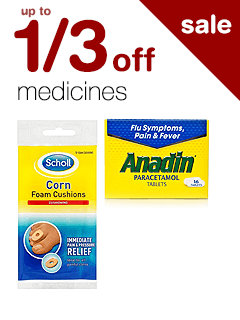 up to 1/3 off Medicines