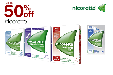 up to 50% off Nicorette