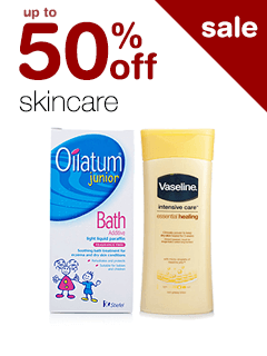 up to 50% off Skincare