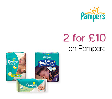 2 for £10 on Pampers