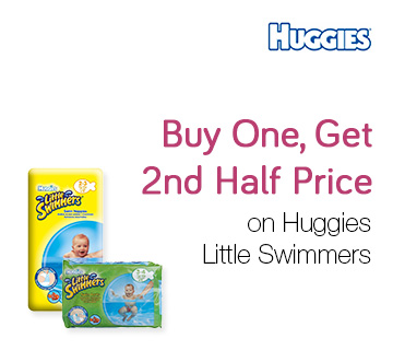 Buy One, Get 2nd Half Price on Huggies Little Swimmers