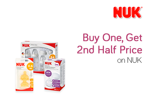 Buy One, Get 2nd Half Price on NUK
