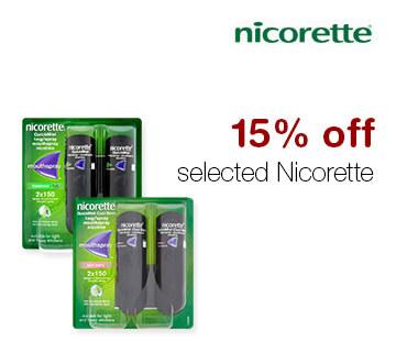 15% off selected Nicorette