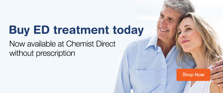 ED treatment with prescription at Chemist Direct