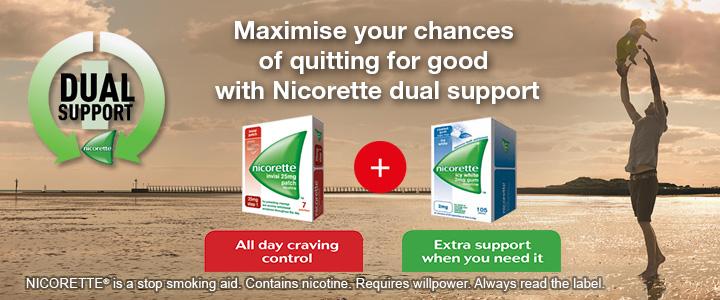 Nicorette dual support