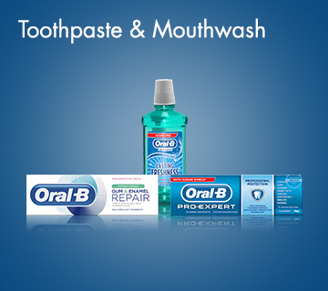 Oral-B Toothpaste & Mouthwash