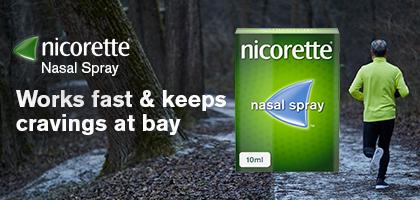 Nicorette Nasal Spray Banner 1